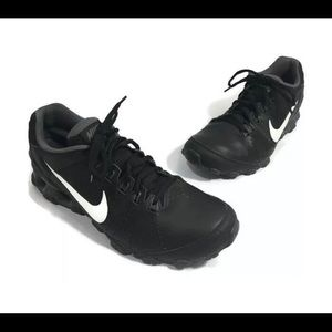Nike Reax TR Black Leather Running Shoes Mens 11.5